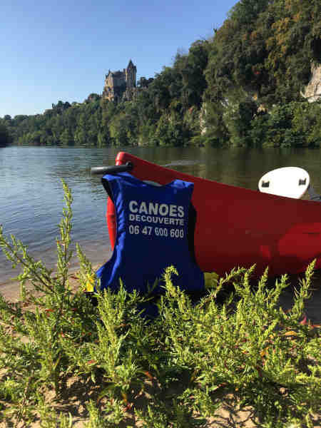 canoe dordogne photo chateau de Dordogne